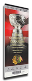 Chicago Blackhawks 2010 Stanley Cup Champions Banner Raising Mega Ticket Stretched Canvas Print