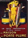 La Maison du Porte-Plume, 1924 Stretched Canvas Print by Jean D'Ylen