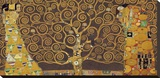 Tree of Life (Brown Variation) IV Stretched Canvas Print by Gustav Klimt