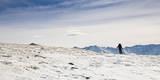A Skier Travels Near Ptarmigan Pass in the Vail Pass Winter Recreation Area, Colorado Reproduction photographique par Sergio Ballivian