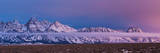 Sunrise Lights the Northern End of Jackson Hole in Grand Teton National Park, Wyoming Fotoprint van Mike Cavaroc
