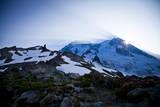 Sun Rising from Behind Mount Rainier - Mount Rainier National Park, Washington Photographic Print by Dan Holz