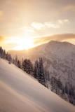 Winter Sunrise over Patsy Marley, Alta, Utah Fotografisk trykk av Louis Arevalo