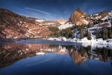 Reflection of Sundial Peak Upon Lake Blanche in the Wasatch Range, Big Cottonwood Canyon, Utah Reproduction photographique par Patrick Brandenburg