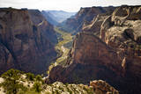 Views of the Cliffs in Zion Canyon from Observation Point Trail in Zion National Park, Utah Reproduction photographique par Sergio Ballivian