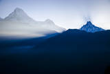 Annapurna and Annapurna South in the Morning Sun, Poon Hill, Annapurna Circuit, Ghorepani, Nepal Photographic Print by Dan Holz