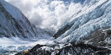 Camp 2 Ensconced in Snow, Ice and Clouds on the Upper Khumbu Glacier of Mount Everest Photographic Print by Kent Harvey