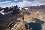 The Summit of Pico Austria in Bolivia's Cordillera Real Reproduction photographique par Sergio Ballivian
