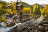 Crystal Mill Is One of the Major Iconic Shots of Colorado in Autumn Fotoprint van Jason J. Hatfield