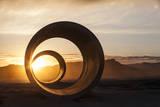 Sun Tunnels at Summer Solstice Fotografisk trykk av Lindsay Daniels