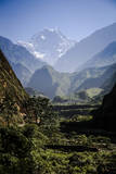 Sweeping Landscape Along the Annapurna Circuit, Nepal Photographic Print by Dan Holz