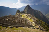 View of Machu Picchu Located in the Vilcanota Mountain Range in South-Central Peru Reproduction photographique par Sergio Ballivian