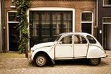 Vintage Citroen on a Street in Amsterdam, Netherlands Fotografisk trykk av Carlo Acenas