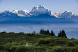 Dhaulagiri, an 8000 Meter Peak in the Morning Sun, Poon Hill, Annapurna Circuit, Ghorepani, Nepal Photographic Print by Dan Holz
