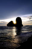 Sunset on Pranang Beach, Railay, Thailand Photographic Print by Dan Holz