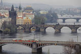 Czech Republic, Prague, View of Vitava River and the Old Town Photographic Print by Ali Kabas