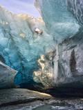 Glacial Cave Entrance, Breidamerkurjoekull, Vatnajoekull, Iceland Stampa fotografica di Martin Zwick