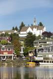 USA, Washington, Poulsbo. Norwegian Heritage Town on Kitsap Peninsula Fotografisk trykk av Trish Drury