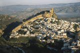 Spain, Montefrio, Andalusia, Aerial Town and Church Reproduction photographique par David Barnes