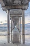 USA, California, La Jolla, Scripps Pier Fotografisk trykk av Rob Tilley
