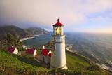 Heceta Head Lighthouse, Oregon Coast, Pacific Ocean, Pacific Northwest Fotografisk trykk av Craig Tuttle