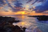 Sunset at Maui Wai or Secret Beach on Maui in Hawaii Reproduction photographique par Ron Dahlquist