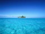 Sparkling Ocean and Tropical Island Fotografisk trykk av Craig Tuttle