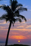 Sunset in Paradise, Makena, Maui, Hawaii Reproduction photographique par Ron Dahlquist