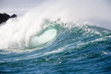 Breaking Waves at Waimea Bay, Oahu, Hawaii Reproduction photographique par Ron Dahlquist