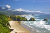 View of Cannon Beach from Ecola State Park Fotografie-Druck von Craig Tuttle