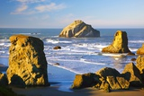 Rock Formations at Low Tide, Bandon Beach, Oregon Coast, Pacific Northwest. Pacific Ocean Fotografisk trykk av Craig Tuttle