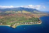 West Maui Mountains Behind Kaanapali Beach Reproduction photographique par Ron Dahlquist