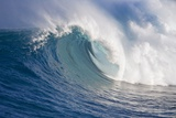 Breaking Waves at a Surfing Area Called Peahi, North Shore of Maui, Hawaii Reproduction photographique par Ron Dahlquist