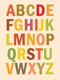 Alphabet (List) Art Poster Print Posters