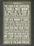 Psalm 23 Prayer Art Print Poster Kunstdrucke