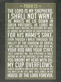 Psalm 23 Prayer Art Print Poster Poster