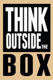Think Outside the Box Poster Bedruckte aufgespannte Leinwand