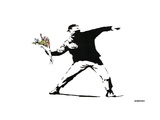 Throwing Flowers - Graffiti Poster