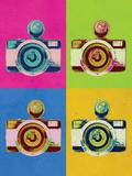 Retro Camera Pop Art Poster Julisteet