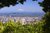 Mt.Hood from Pittock Mansion. Portland Oregon. Pacific Northwest Fotografisk trykk av Craig Tuttle