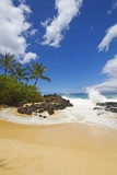 Makena Cove, also known as Secret Beach and Wedding Beach, Maui, Hawaii Reproduction photographique par Ron Dahlquist