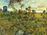 Vincent Van Gogh Tardis at Montmajour Poster