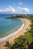Sheraton Maui Resort and Spa, Kaanapali Beach, Famous Black Rock known for it's Snorkeling Reproduction photographique par Ron Dahlquist