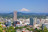 Mt.Hood over Portland Skyline from West Hills, Portlan, Oregon Photographic Print by Craig Tuttle