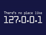 Theres No Place Like 127.0.0.1 Localhost Computer Print Poster Posters