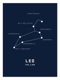 Astrology Chart Leo Posters