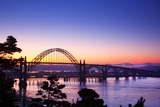 Sunrise over Newport Bridge, Newport Oregon, Oregon Coast, Pacific Northwest Fotografisk trykk av Craig Tuttle