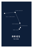Astrology Chart Aries Posters