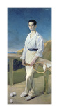 The Tennis Player Premium Giclee-trykk av Jose Villegas Y Cordero