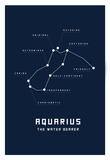Astrology Chart Aquarius Affiches